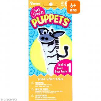 Kit marionnette à main à fabriquer - Sock friends Puppets - Zèbre