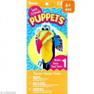 Kit marionnette à main à fabriquer - Sock friends Puppets - Toucan