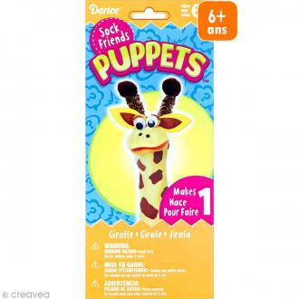 Kit marionnette à main à fabriquer - Sock friends Puppets - Girafe