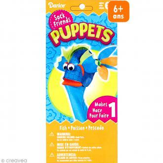 Kit marionnette à main à fabriquer - Sock friends Puppets - Poisson