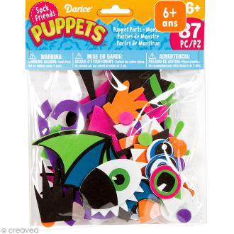Assortiment Formes en mousse - Sock friends Puppets - Monstre - 86 pcs