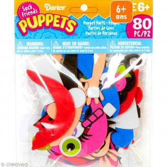 Assortiment Formes en mousse - Sock friends Puppets - Bonhomme - 80 pcs