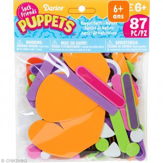 Assortiment Formes en mousse - Sock friends Puppets - Nature - 87 pcs