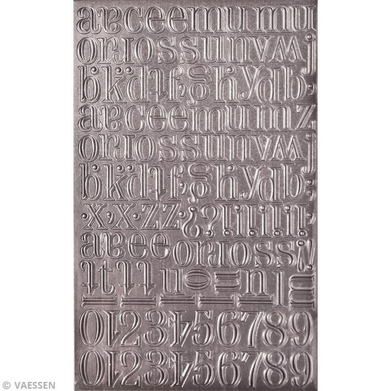 Stickers alphabet métallique - Vintage - Ciselé - 138 pcs - Photo n°2