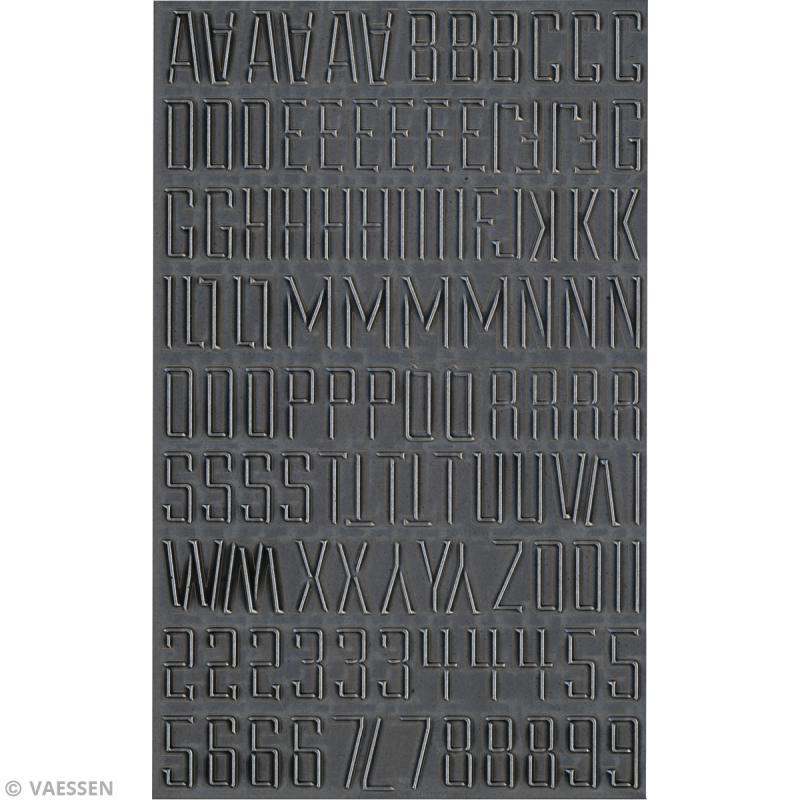 Stickers alphabet métallique - Vintage - Capitale - 114 pcs - Photo n°2