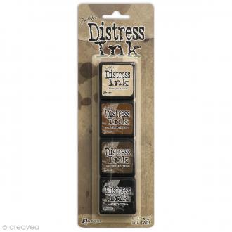 Mini encreur distress - Assortiment n°3 Vintage - 4 pcs
