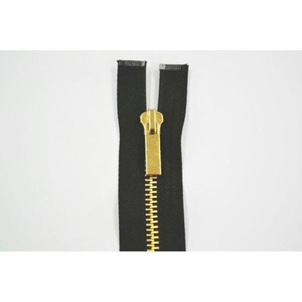 Fermeture métal laiton finition dorée non séparable maille 5mm coloris noir 5cm - Photo n°1