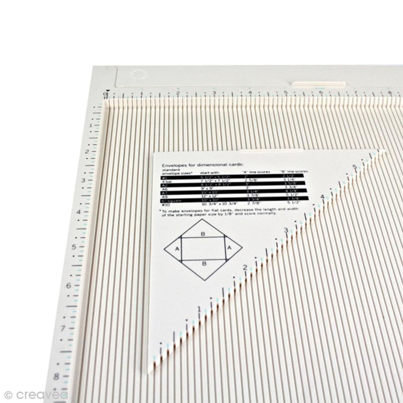 Tablette de rainurage scrapbooking et pliage enveloppe - 31 x 31 cm - Photo n°2