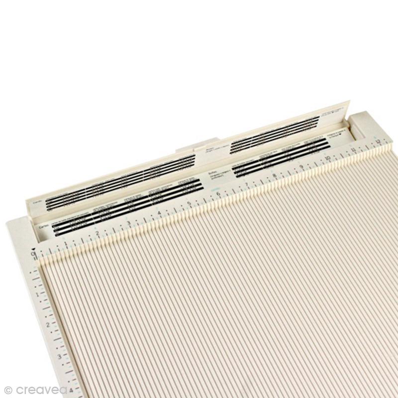 Tablette de rainurage scrapbooking et pliage enveloppe - 31 x 31 cm - Photo n°3