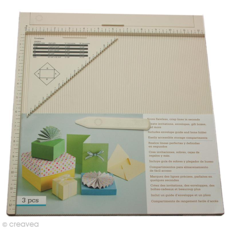 tablette de rainurage scrapbooking et pliage enveloppe. Black Bedroom Furniture Sets. Home Design Ideas