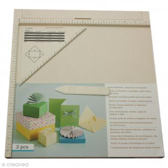 Tablette de rainurage scrapbooking et pliage enveloppe - 31 x 31 cm
