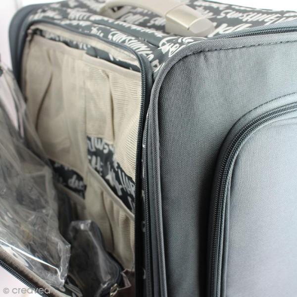 Valise de rangement à roulettes - 360 crafter's bag - Imprimés écriture - Photo n°3