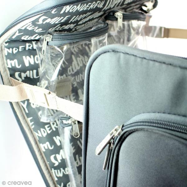 Valise de rangement à roulettes - 360 crafter's bag - Imprimés écriture - Photo n°5