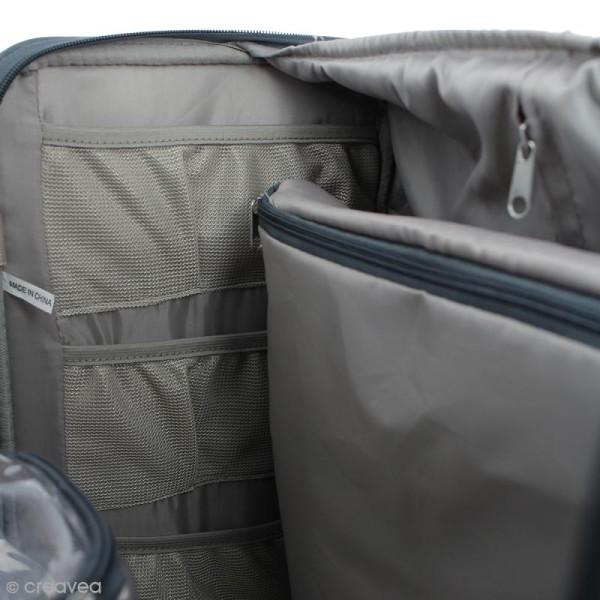 Valise de rangement à roulettes - 360 crafter's bag - Imprimés écriture - Photo n°6