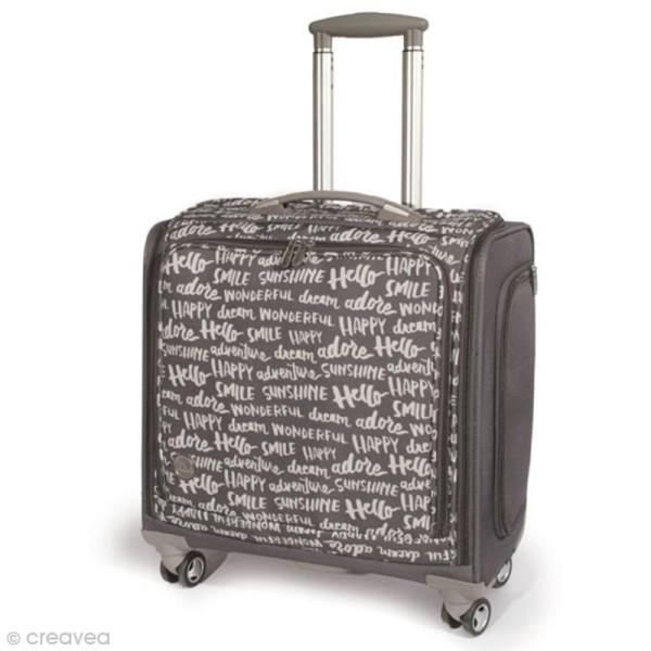 Valise de rangement à roulettes - 360 crafter's bag - Imprimés écriture - Photo n°1