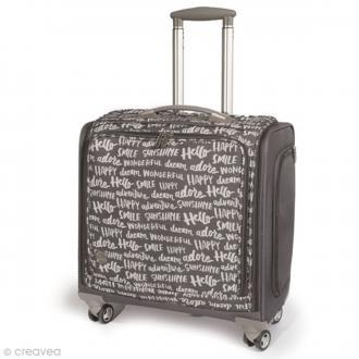 Valise de rangement à roulettes - 360 crafter's bag - Imprimés écriture