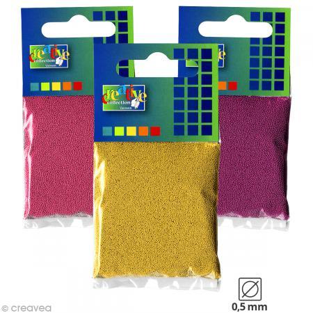 Microbilles en verre 0,5 mm - Sachet de 25 gr - 18 couleurs - Photo n°1