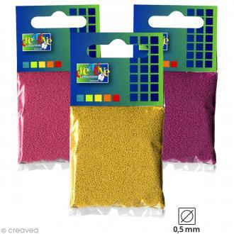 Microbilles en verre 0,5 mm - Sachet de 25 gr - 18 couleurs