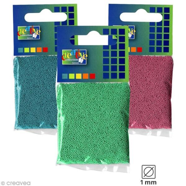 Microbilles en verre 1 mm - Sachet de 25 gr - 6 couleurs - Photo n°1