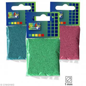 Microbilles en verre 1 mm - Sachet de 25 gr - 6 couleurs