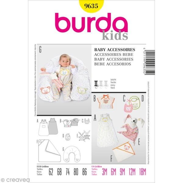 Patron Burda - Enfant - Accessoires pour bébé - 9635 - Photo n°1