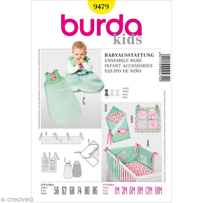 patron tour de lit bébé Patron Burda   Enfant   Ensemble de lit pour bébé   9479   Patron  patron tour de lit bébé