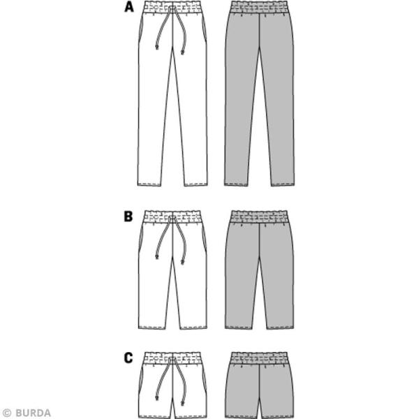 Femme 6938 Burda De Pantalon Et Patron Short 45Oqpp