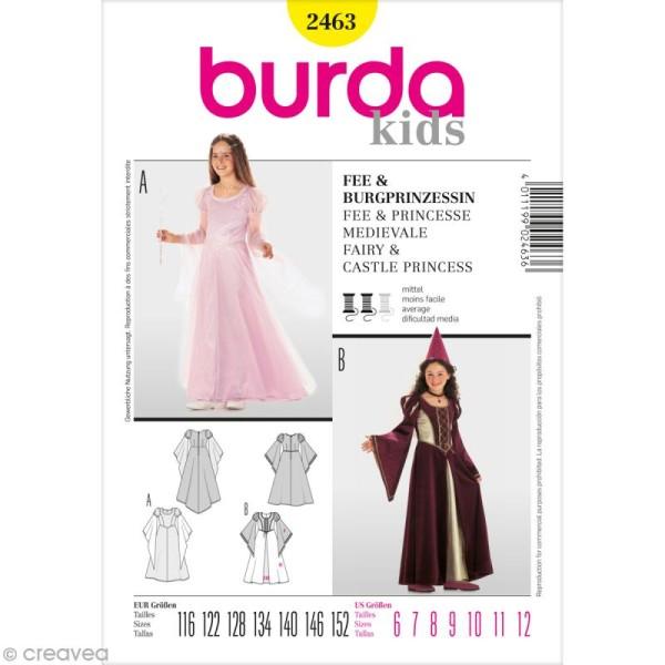 Patron Burda - Enfant - Déguisement de fée et princesse médiévale - 2463 - Photo n°1