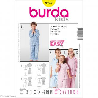 Patron Burda - Enfant - Pyjama - 9747