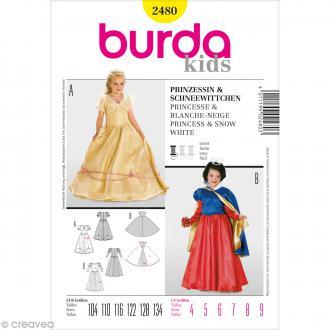 Patron Burda - Enfant - Déguisement princesse - 2480