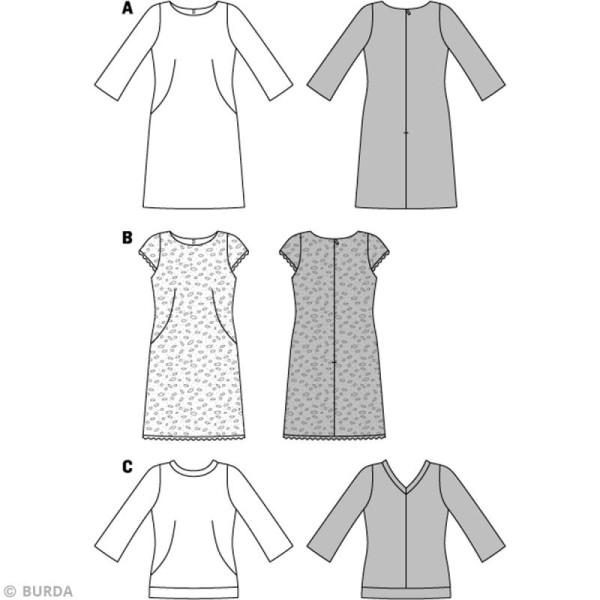 Patron Burda - Femme - Robe et tee-shirt - 7031 - Photo n°3