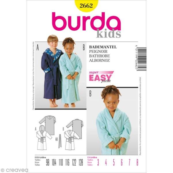 Patron Burda - Enfant - Peignoir de bain - 2662 - Photo n°1