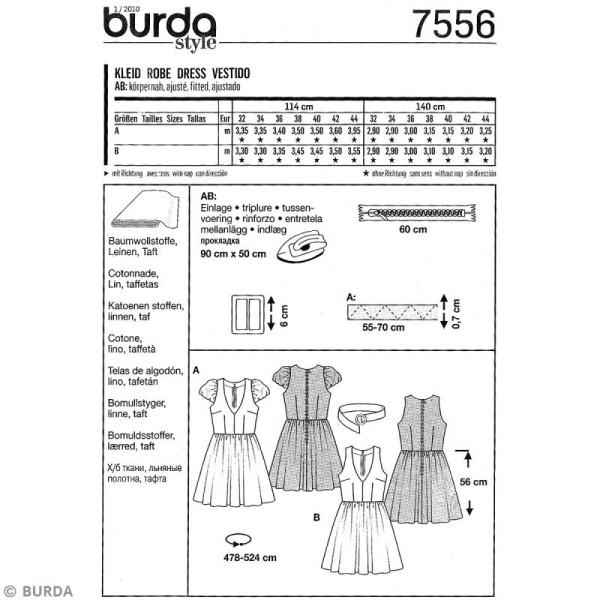Patron Burda - Jeune fille - Robe légère - 7556 - Photo n°4
