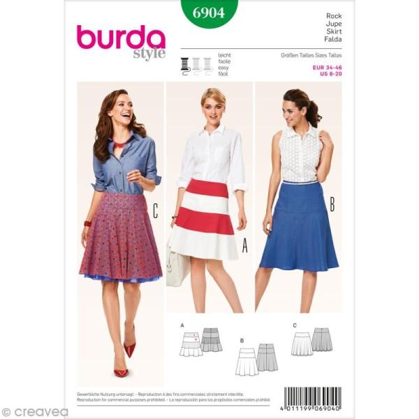 Patron Burda - Femme - Jupe évasée - 6904 - Photo n°1