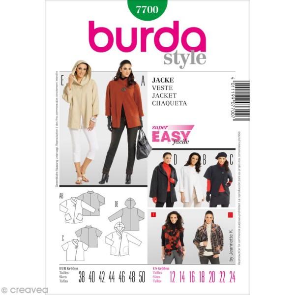 Patron Burda - Femme - Veste à bouton - 7700 - Photo n°1