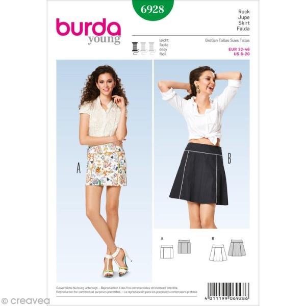 Patron Burda - Jeune fille - Jupe courte - 6928 - Photo n°1