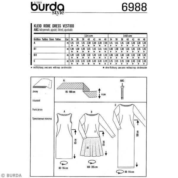 Patron Burda - Femme - Robe - 6988 - Photo n°4
