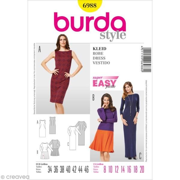 Patron Burda - Femme - Robe - 6988 - Photo n°1