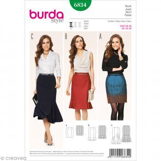 Patron Burda - Femme - Jupe à empiècements - 6834