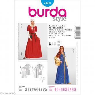 Patron Burda - Femme - Déguisement robe moyen-âge - 7468