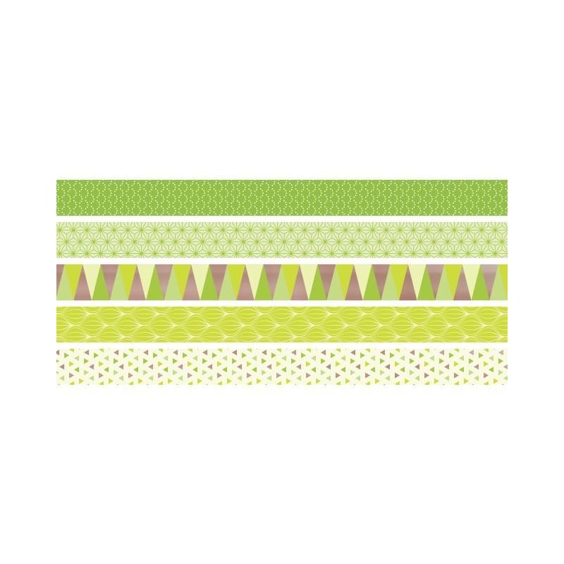 5 rubans d coratifs adh sifs mini lemon masking tape creavea. Black Bedroom Furniture Sets. Home Design Ideas