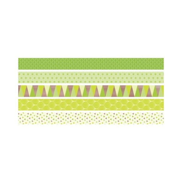 5 Rubans décoratifs adhésifs mini - Lemon - Photo n°1