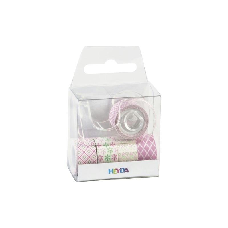 rubans d coratifs adh sifs mini rose pastel masking tape creavea. Black Bedroom Furniture Sets. Home Design Ideas