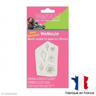 Moule silicone WePAM Roses et feuilles