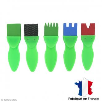 Assortiment de brosses fantaisies 37 mm - 5 pcs