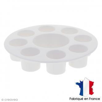 Palette plastique ronde 18 cm - 8 godets