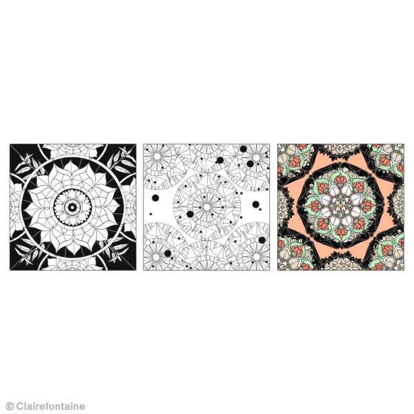 Carnet De Coloriage Mandala Pour Adulte 18 Pages 20 X 20 Cm
