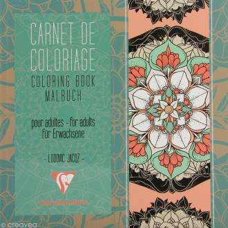 Carnet de coloriage Mandala pour adulte - 18 pages - 20 x 20 cm