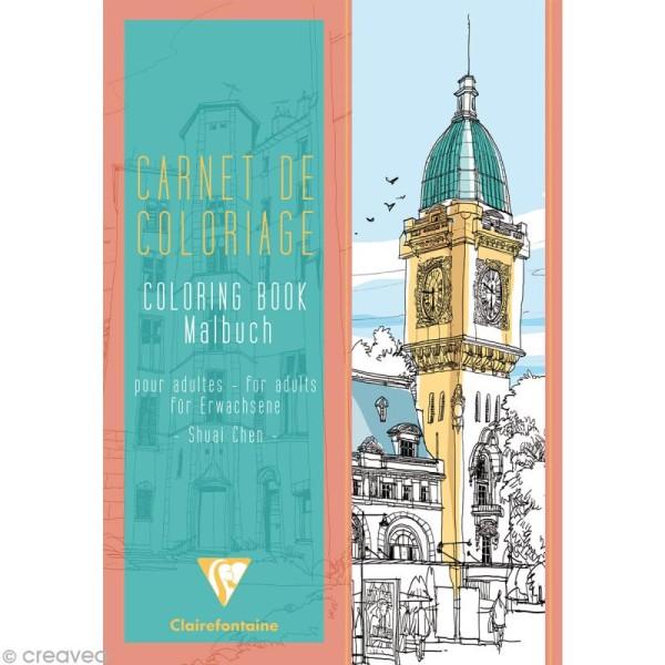 Carnet De Coloriage Villes Pour Adulte 24 Pages 21 X 29 7 Cm Livre Coloriage Adulte Creavea