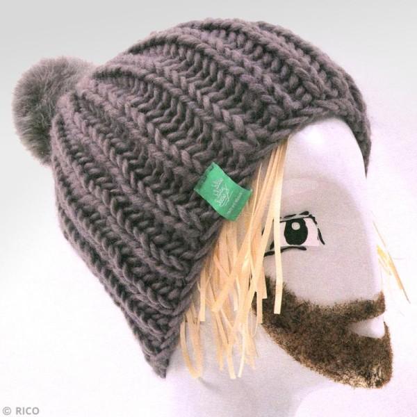 Kit Rico Design - Fashion super chunky - Bonnet à pompon jersey - Photo n°2